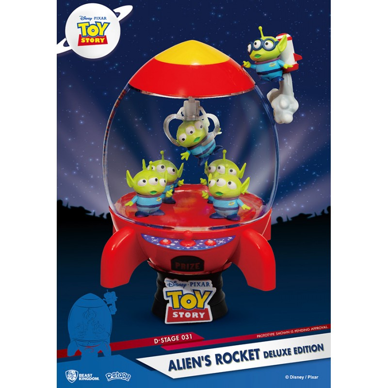 TOY STORY ALIEN ROCKET DLX D-STAGE 031 STATUE FIGURE DIORAMA