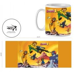 INFINITE STATUE DAITARN 3 TOPPI FIGHT CERAMIC MUG TAZZA IN CERAMICA