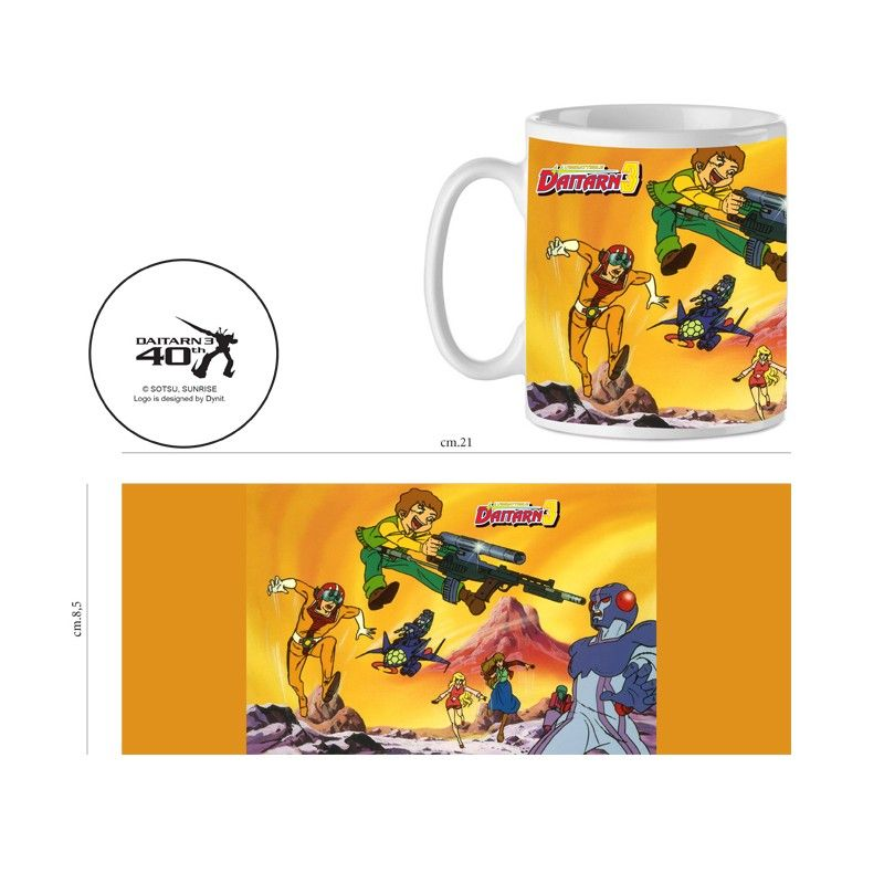 DAITARN 3 TOPPI FIGHT CERAMIC MUG TAZZA IN CERAMICA