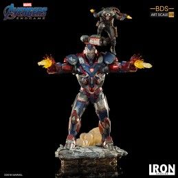 IRON STUDIOS AVENGERS ENDGAME - IRON PATRIOT AND ROCKET BDS ART SCALE 1/10 STATUE FIGURE