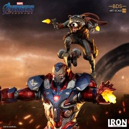 Avengers Endgame Iron Patriot And Rocket Bds Art Scale 1 10 Statue