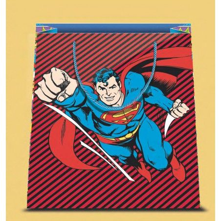 SUPERMAN COMIC SMALL SHOPPER BAG PICCOLA BORSA DI CARTA