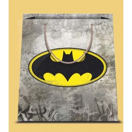 BATMAN LOGO SMALL SHOPPER BAG PICCOLA BORSA DI CARTA MARPIMAR