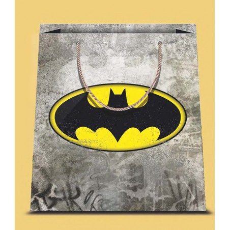 BATMAN LOGO SMALL SHOPPER BAG PICCOLA BORSA DI CARTA