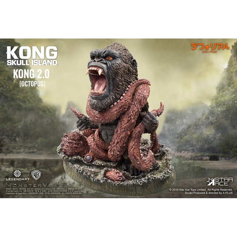 KONG SKULL ISLAND DEFORM REAL SERIES KONG VS OCTOPUS STATUE FIGURE