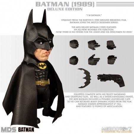 MEZCO DESIGNER SERIES BATMAN 1989 DLX ACTION FIGURE