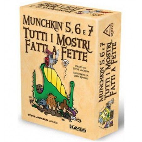 MUNCHKIN 5,6 E 7 TUTTI I MOSTRI FATTI A FETTE ESPANSIONE ITALIANO RAVEN