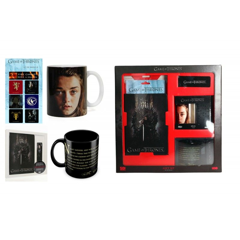 SD TOYS GAME OF THRONES GIFT BOX PACCO REGALO CON TAZZA E SEGNALIBRO