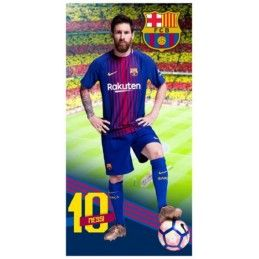 FC BARCELONA MESSI BEACH BATH TOWEL TELO DA MARE