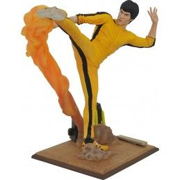 DIAMOND SELECT BRUCE LEE GALLERY KICKING PVC STATUE 25CM FIGURE