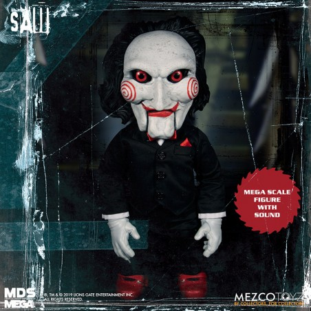 SAW MEGA SCALE TALKING BILLY WITH SOUND 40 CM ACTION FIGURE