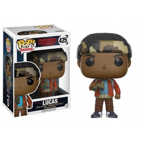 FUNKO POP! STRANGER THINGS LUCAS BOBBLE HEAD KNOCKER FIGURE