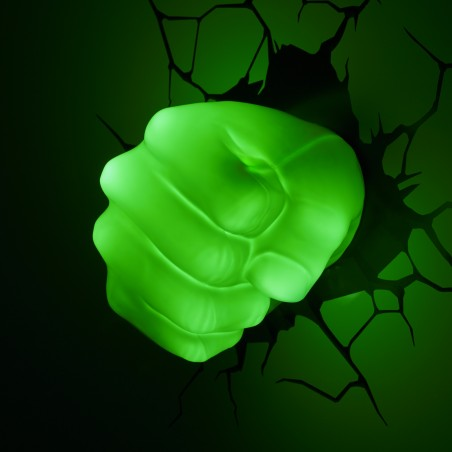 MARVEL HULK FIST 3D LIGHT LAMPADA DA MURO