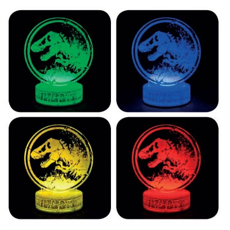 JURASSIC WORLD LED LIGHT LAMPADA DA TAVOLO