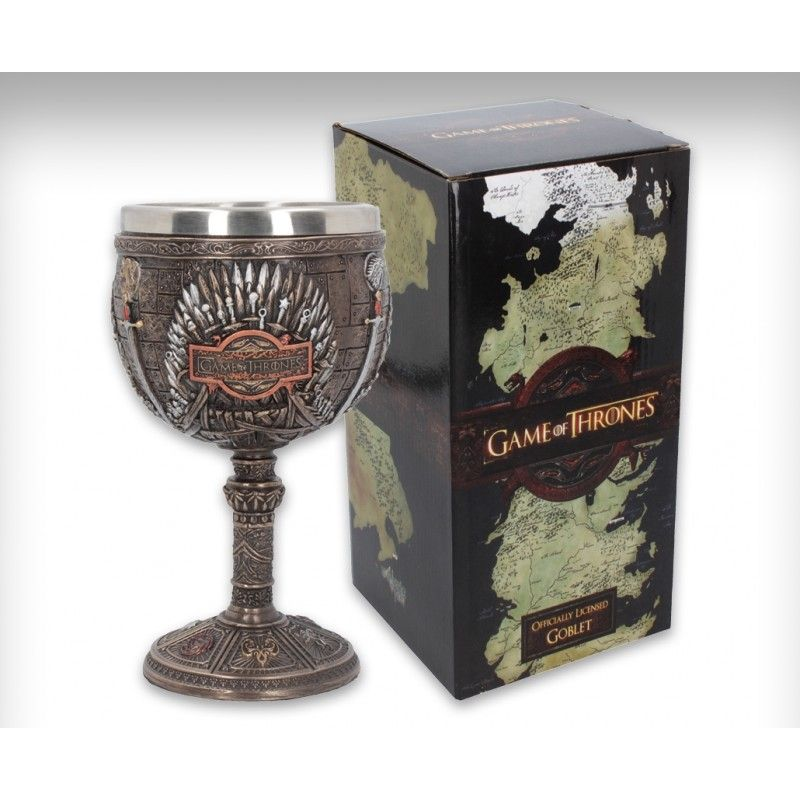 NEMESIS NOW GAME OF THRONES - IRON THRONE GOBLET RESIN 17CM CALICE TRONO DI SPADE
