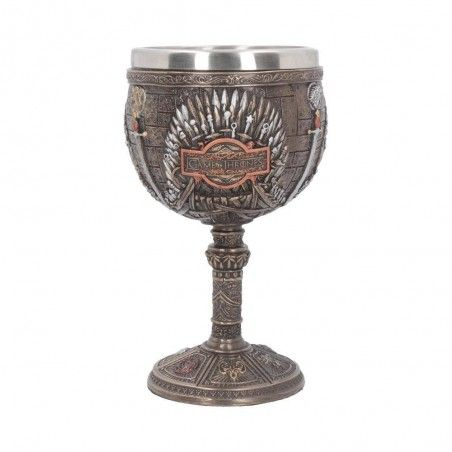 GAME OF THRONES - IRON THRONE GOBLET RESIN 17CM CALICE TRONO DI SPADE