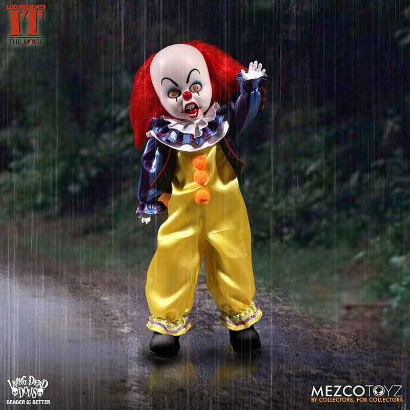 LIVING DEAD DOLLS LDD IT 1990 PENNYWISE ACTION FIGURE MEZCO TOYS