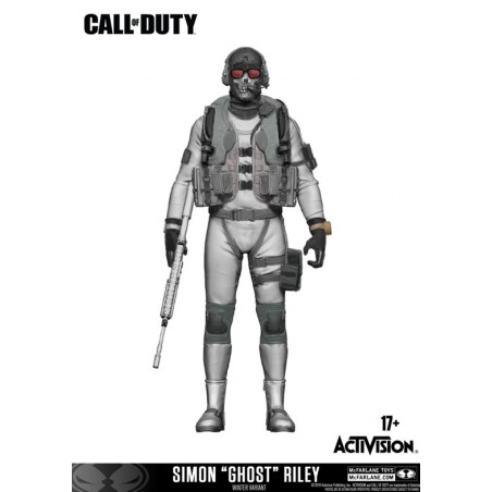 CALL OF DUTY - SIMON GHOST RILEY ACTION FIGURE