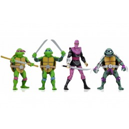 TMNT TURTLES IN TIME SERIES 1 SET TEENAGE MUTANT NINJA TURTLES ACTION FIGURE NECA