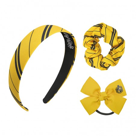 HARRY POTTER HUFFLEPUFF TASSOROSSO CERCHIETTO ED ELASTICI PER CAPELLI HEADBAND