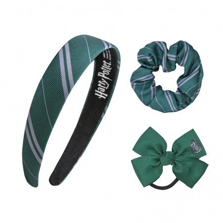 HARRY POTTER SLYTHERIN SERPEVERDE CERCHIETTO ED ELASTICI PER CAPELLI HEADBAND