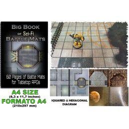 BIG BOOK OF SCI-FI BATTLE MATS CAMPI DA GIOCO DA TAVOLO DM VAULT