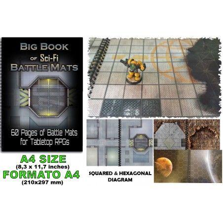BIG BOOK OF SCI-FI BATTLE MATS CAMPI DA GIOCO DA TAVOLO