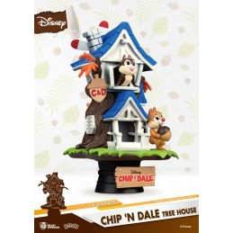 BEAST KINGDOM DISNEY CHIP N DALE TREE HOUSE D-STAGE 026 CIP E CIOP STATUE FIGURE DIORAMA