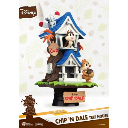 DISNEY CHIP N DALE TREE HOUSE D-STAGE 026 CIP E CIOP STATUE FIGURE DIORAMA