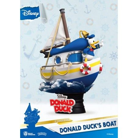 DISNEY DONALD DUCK'S BOAT D-STAGE 029 PAPERINO STATUE FIGURE DIORAMA