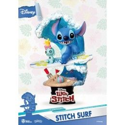 BEAST KINGDOM LILO AND STITCH D-STAGE 030 STITCH SURF STATUE FIGURE DIORAMA