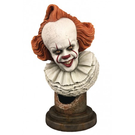 IT 2 LEGENDS IN 3D PENNYWISE 1/2 BUST STATUE FIGURE