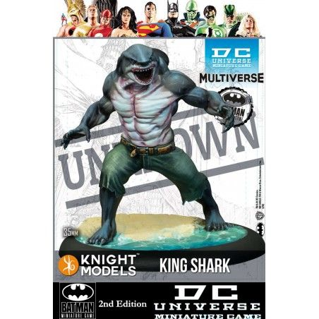 BATMAN MINIATURE GAME -  KING SHARK MINI RESIN STATUE FIGURE