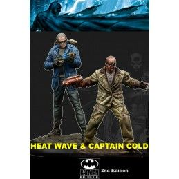 KNIGHT MODELS BATMAN MINIATURE GAME - CAPTAIN COLD AND HEATWAVE MINI RESIN STATUE FIGURE