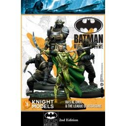 BATMAN MINIATURE GAME - RA'S AL GHUL AND THE LEAGUE OF ASSASSINS MINI RESIN STATUE FIGURE KNIGHT MODELS