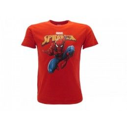 MAGLIA T SHIRT MARVEL SPIDERMAN 19 ROSSA