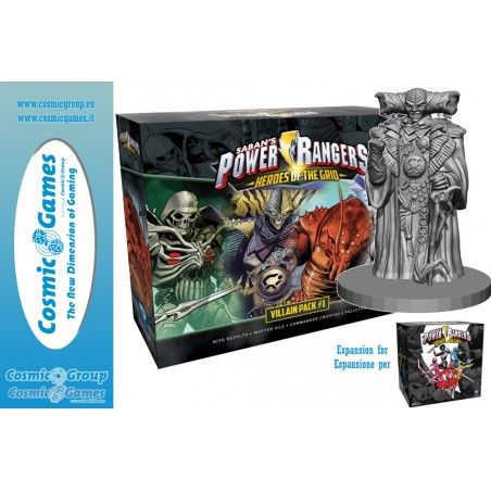 POWER RANGERS HEROES OF THE GRID VILLAINS PACK 1 EXPANSION GIOCO DA TAVOLO