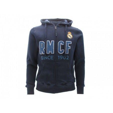 FELPA HOODIE ZIP UFFICIALE REAL MADRID RMCF
