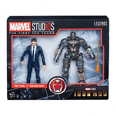 MARVEL LEGENDS IRON MAN - TONY STARK AND IRON MAN MARK 1 2-PACK ACTION FIGURE