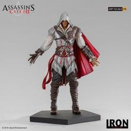 IRON STUDIOS ASSASSIN'S CREED - EZIO AUDITORE ART SCALE 1/10 STATUE 21CM FIGURE