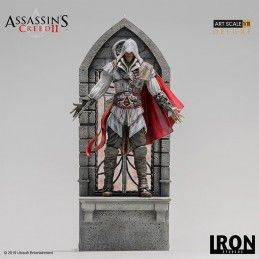 IRON STUDIOS ASSASSIN'S CREED - EZIO AUDITORE ART SCALE 1/10 DELUXE STATUE 31CM FIGURE