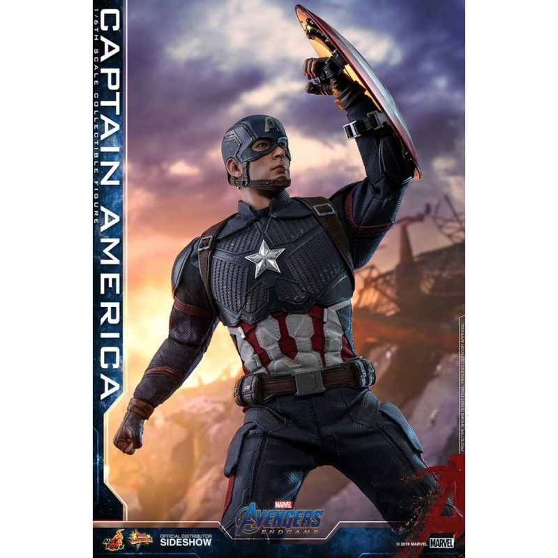 HOT TOYS MARVEL AVENGERS ENDGAME - CAPTAIN AMERICA 30CM MOVIE MASTERPIECE ACTION FIGURE