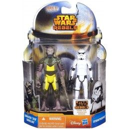 STAR WARS MISSION SERIE 2-PACK GARAZEB ORRELIOS E STORMTROOPER ACTION FIGURE HASBRO