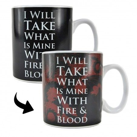 GAME OF THRONES HEAT CHANGING MUG TAZZA
