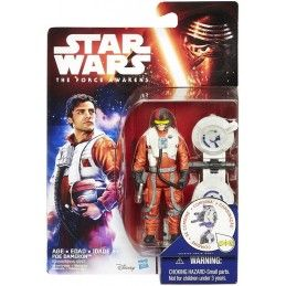 HASBRO STAR WARS - SPACE WAVE POE DAMERON ACTION FIGURE