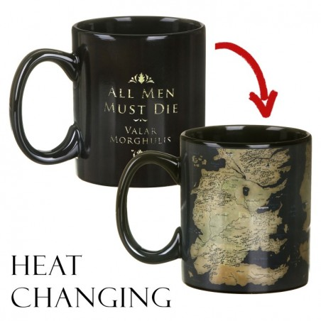 GAME OF THRONES MAP HEAT CHANGING MUG TAZZA