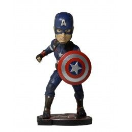AVENGERS AGE OF ULTRON - CAPTAIN AMERICA BOBBLE HEADKNOCKER FIGURE NECA