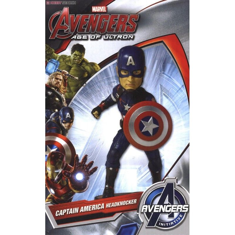 NECA AVENGERS AGE OF ULTRON - CAPTAIN AMERICA BOBBLE HEADKNOCKER FIGURE