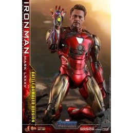 HOT TOYS MARVEL AVENGERS ENDGAME - IRON MAN MARK LXXXV BATTLE DAMAGED MOVIE MASTERPIECE ACTION FIGURE