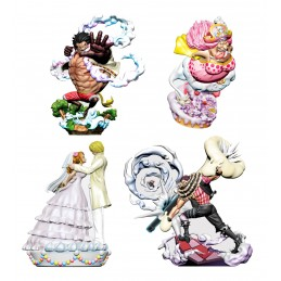 MEGAHOUSE ONE PIECE LOG BOX WHOLE CAKE ISLAND SET OF 4 MINI FIGURE